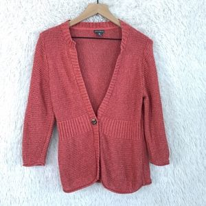 Eddie Bauer | Linen Cardigan Sweater Size Medium